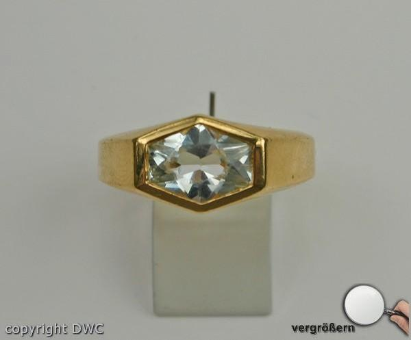 Finger Damen Ring mit Blautopas Blautopase Gold mit Blautopasen Topas ...