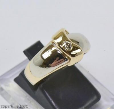 Damen Finger Ring mit Solitär Brillant Diamant Brillanten Brillianten ...