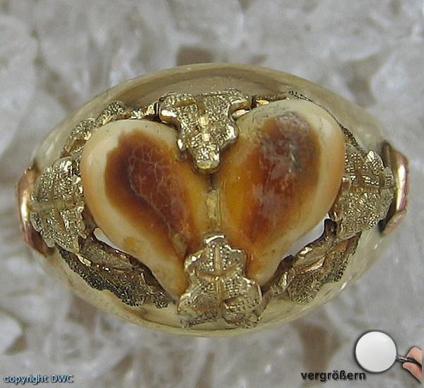 Grandelring Gold Ring Ringe 14 Kt 585 Gold Trachtenring Tracht