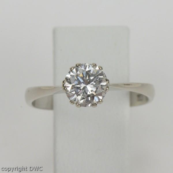 Brillantring  Brillantring mit Solitär Ring Brillant Brillanten Diamantring ...
