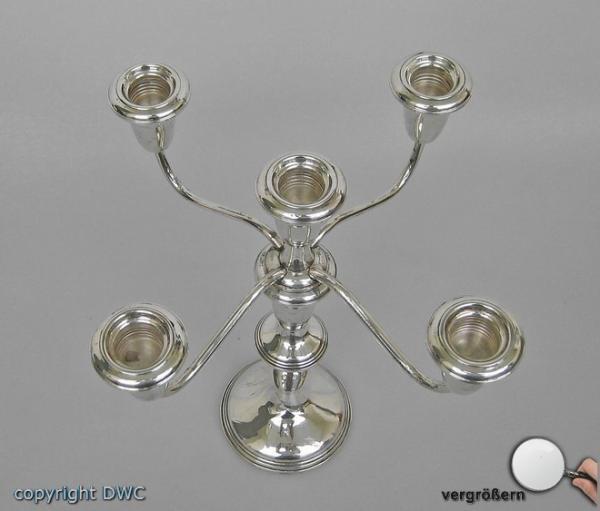 Kerzenleuchter-925-Silber-Kandelaber-Leuchter-Antik-antiker-Sterling-Silberner