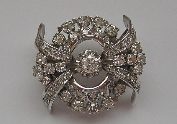 Angemessen Brillantbrosche Mit Diamanten Diamonds Brooch In Aus 14 Kt Broschen & Nadeln Broschen & Anstecknadeln 585 Gold