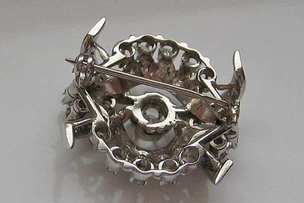 585 Gold Unikate & Goldschmiedearbeiten Angemessen Brillantbrosche Mit Diamanten Diamonds Brooch In Aus 14 Kt