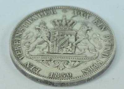 Coin Münze 1 Vereinstaler Maximilian Ii König Von Bayern 1859