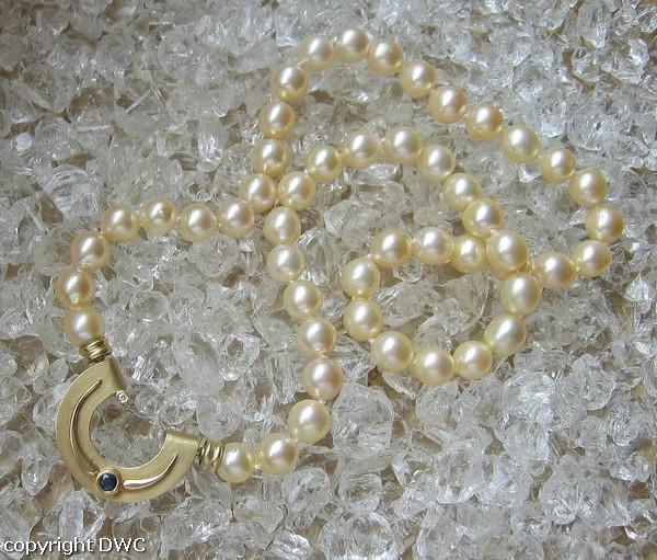 Perlen Perlenkette Kette Mit Perle Perlen Goldverschluss Brillant In 585 Gold Echtschmuck